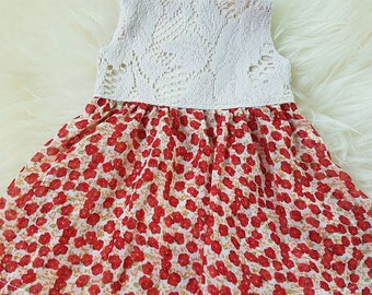 Vintage lace Summer Dress to fit 18 inch Doll American Girl Doll