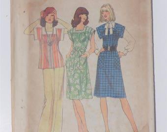 Vintage 1976 Simplicity 7381 size 8,10,12,14