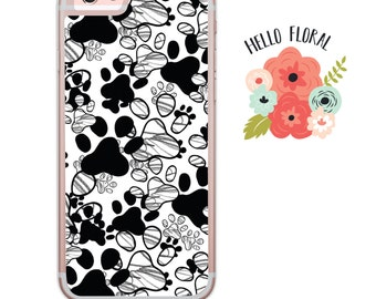 Dog paw print iPhone Samsung Galaxy iPod Touch hard case