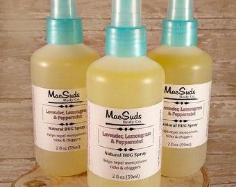 Natural Bug Spray, 6oz, Floral Scent, Outdoor Spray, Mosquito spray, Tick spray, DEET free, Body spray, Body mist, Aromatherapy spray,