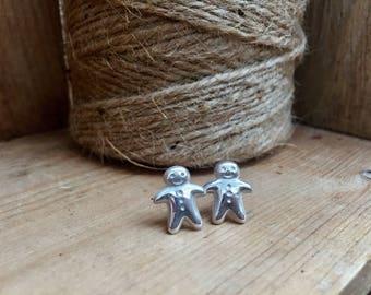 Fine Silver Lakeland Gingerbread Men Earrings