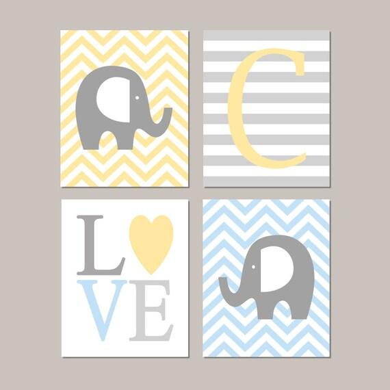 Items Similar To Baby Blue Elephant Nursery Wall Art Elephant Nursery Decor Boy Nursery Decor