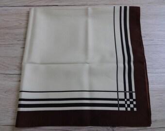 "Vintage Brown Scarf  Mod 61cm x 63cm / 24"" x 24.8"""