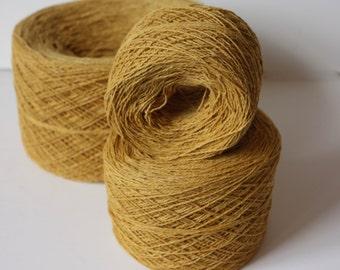 100% Hemp Yarn - Natural Dye - Col: 017 Turmeric