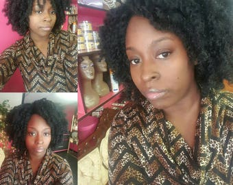 Rose kinky afro twist wig