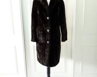 Dunbar 1970's vintage faux fur coat vintage faux fur coat fully lined brown vintage faux fur coat size 12
