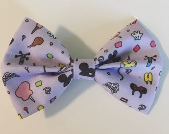 SALE! Disney-Inspired Park Essentials Light Purple Handmade Fabric Hair Bow