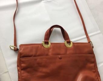 1970's Tan Briefcase/Bag By Bottega Ventra