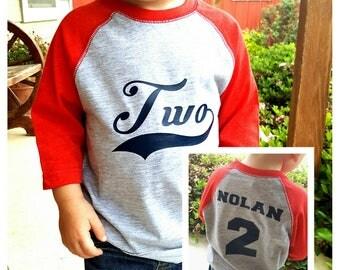 Boys 2nd Birthday Shirt - Baseball Birthday Shirt - Baseball 2nd Birthday Shirt Boy - Baseball Birthday Party - Two Year Old Birthday Shirt