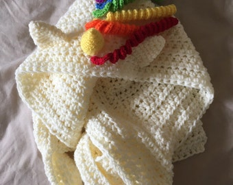 Hooded unicorn scarf, unicorn hood, hooded scarf, be a unicorn