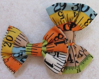 Tape measure fabric shoe clip. Quirky and Chic.
