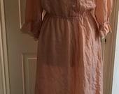 Vintage peach hand made grunge style dress