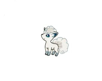 Alolan Vulpix Pokémon - Fully Embroidered Patch