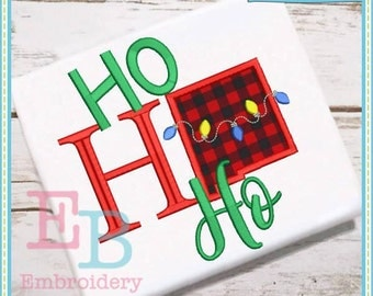 Ho Ho Ho New Mexico Applique - This design is to be used on an embroidery machine. Instant Download