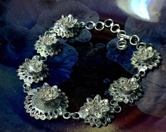 Vintage Lotus Bracelet