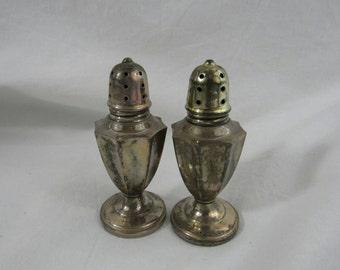 Antique Sterling Silver Salt Pepper Set Serving Traditional Style Tabletop