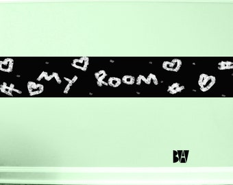 Chalkboard Room Decal. Childrens Wall Decor. Vinyl Decals. Wall Decal. Bedroom wall decal. Wall sticker. Home decor decals.