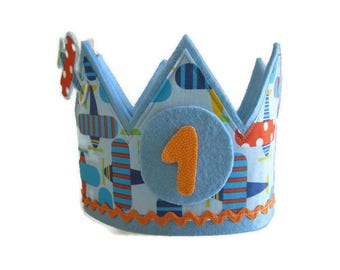 Anniversary crown-Birthday wreath-gift for children-Happy birthday-Personalized crown-children's birthday-made with fabric