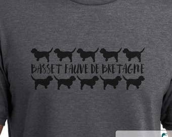 Basset Fauve de Bretagne - Repeating Silhouette - Basset Fauve de Bretagne shirt - Ladies or Unisex cut - Choose your color!