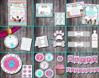 PET PAW-ty Puppy Kitty Party - Pet Adoption Party -Personalized Printable Package! Easy to Print!