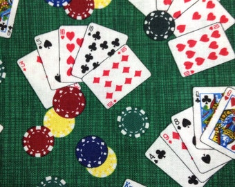 1/2 Yard of Fabric Material - Mini Poker, Dark Green