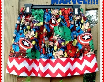 girls Marvel skirt  2T 3T 4T 5T 4/5 6/6X 7/8 10/12 14/16 ready to ship