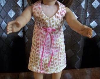 "Handmade Halter Dress for 18"" Doll - 18"" Doll Dress - Print Doll Dress-18"" Doll Clothes - American Made"