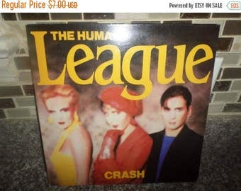 Save 30% Today Vintage 1986 LP Record The Human League Crash Gatefold Cover Excellent Condition A&M Records 5923