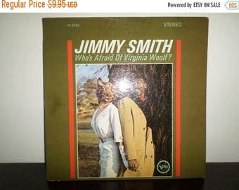 Save 30% Today Vintage 1964 Vinyl LP Jazz Record Who's Afraid of Virginia Woolf? Jimmy Smith Very Good Condition 7804