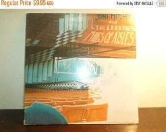 Save 30% Today Vintage 1974 Vinyl LP Record Joni Mitchell and the LA Express Miles of Aisles Excellent Condition 8645