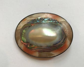 Beautiful Victorian Blister Pearl Brooch
