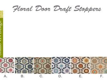 Floral Draft Stopper. a Rosa  Door Snake.Floral Door Draft Stopper.Rosa zigzag Door Stopper.