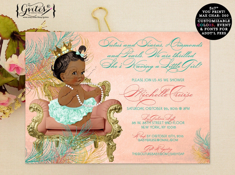 African American Baby Shower Invitations – sweetkingdom.co
