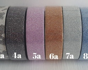 "Pick any Selection of Glitter Washi Tape (Let us know the style numbers in order under ""Notes"")"