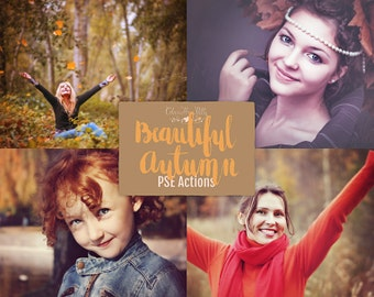 75% OFF! - Beautiful Autumn {39 Photoshop Actions for Elements 11, 12, 13, 14 and 15}