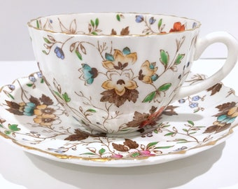 Gatineau Cup, Garden Chintz Tea Cup and Saucer, Radfords Bone China, English Teacups, Antique Tea Cups, Tea Cups Vintage, Vintage Tea Cup