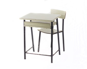 Formica desk with chair. 70s