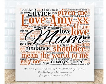 Mum Quote Message Ceramic Plaque. Personalised. Birthday, Christmas, Mother's Day, Valentine's Day