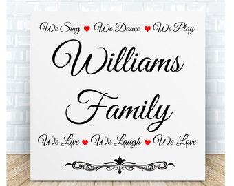 Personalised Family Ceramic Plaque.