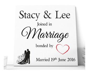 On YourWedding Day Ceramic Plaque.  Personalised