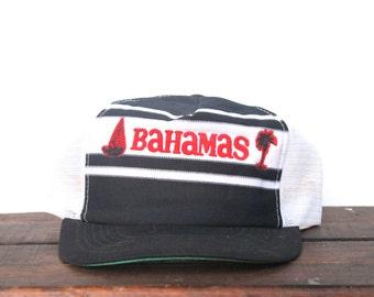 Vintage Bahamas Tropical Island Beach Vacation Trucker Hat Snapback Baseball Cap