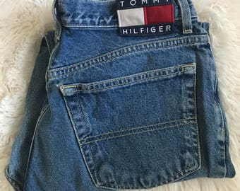 90s Tommy Hilfiger Classic Fit Jeans \\ 90s Relaxed Leg Jeans \\ Tapered Leg Jeans \\ Relaxed Fit Mom Jeans 13