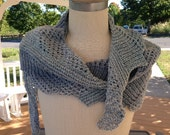 Blue and Grey Crescent Scarf