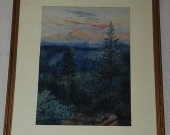 California Sierras from Applegate by G. Hamilton Hammon