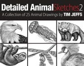 Detailed Animal Sketches 2. A Coloring Collection by Tim Jeffs