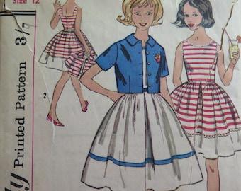 Pattern Simplicity 3450//Girls Dress Pattern//Vintage Girl