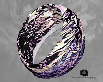 Headband Purple Haze Hairband Art Cloth Hairband Headband Fashion, Forehead Accessories, Headband Scarf, Stylish Activewear Hair Accessories