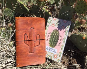 Leather Saguaro Cactus Traveler's Notebook/Planner