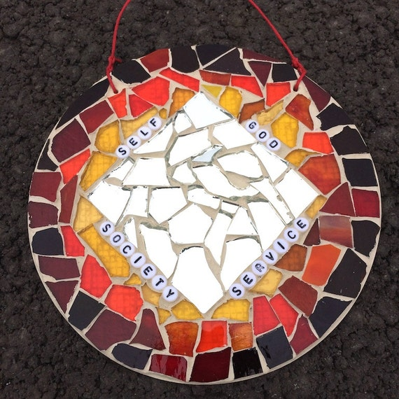 Stained Glass Recovery Mosaics Art with a Message Made in Hawaii Deesigns by Harris Free Gift Wrap