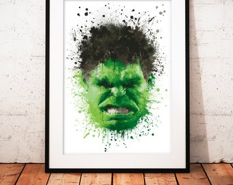 Hulk - limited edition print 210 x 297 mm, numbered and signed